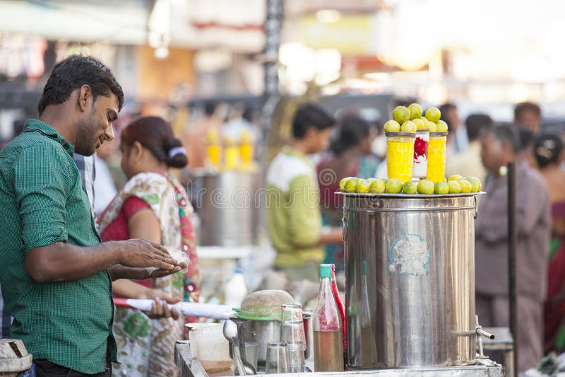 Lemon Juice from Jamnagar, India. Front View of lemon Juice which is sold in Jamnagar roadside in summer royalty free stock image