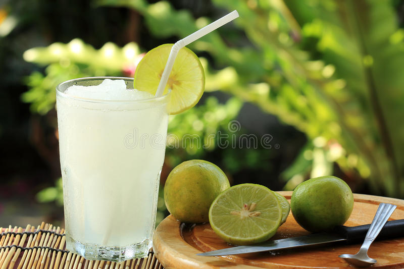 Lemon Lime juice smoothie stock images