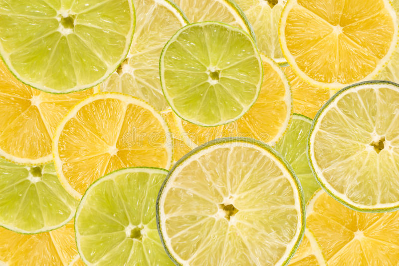 Lemon And Lime Slice Abstract stock photography