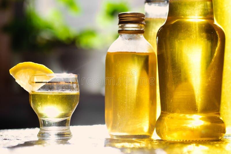 Lemon liqueur stock photos