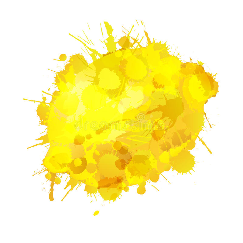 Download Lemon Made Of Colorful Splashe Stock Vector - Image: 32395064