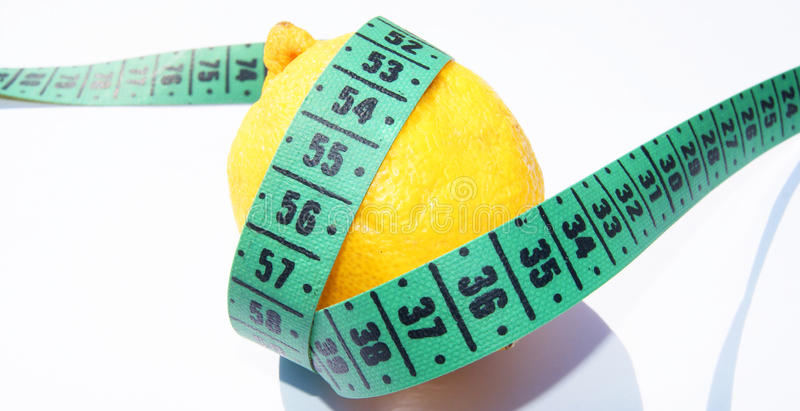 Download Lemon and measuring tape stock photo. Image of fresh - 24532442