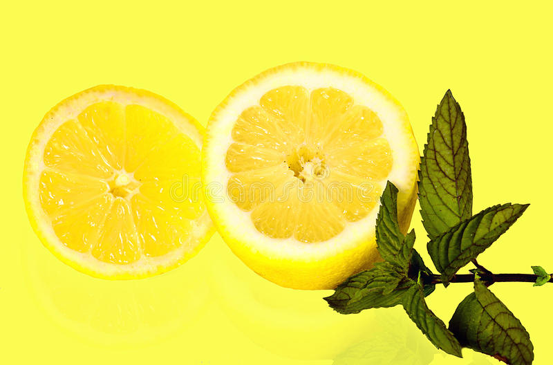 Lemon And Mint Royalty Free Stock Images