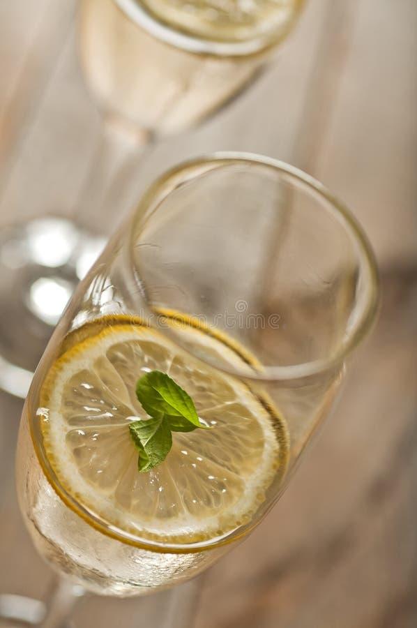 Download Lemon mint cocktail stock photo. Image of macro, wood - 20484838