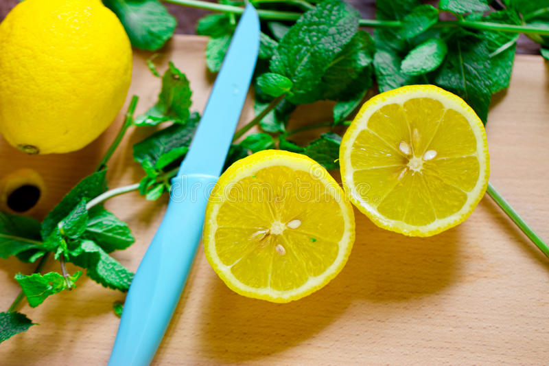 Download Lemon with mint stock photo. Image of mojito, diet, fruit - 43551594