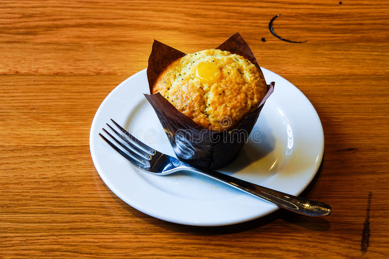 Lemon Muffin royalty free stock photo
