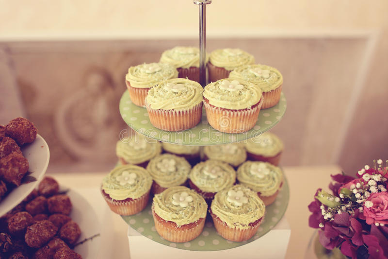 Lemon muffins royalty free stock photos