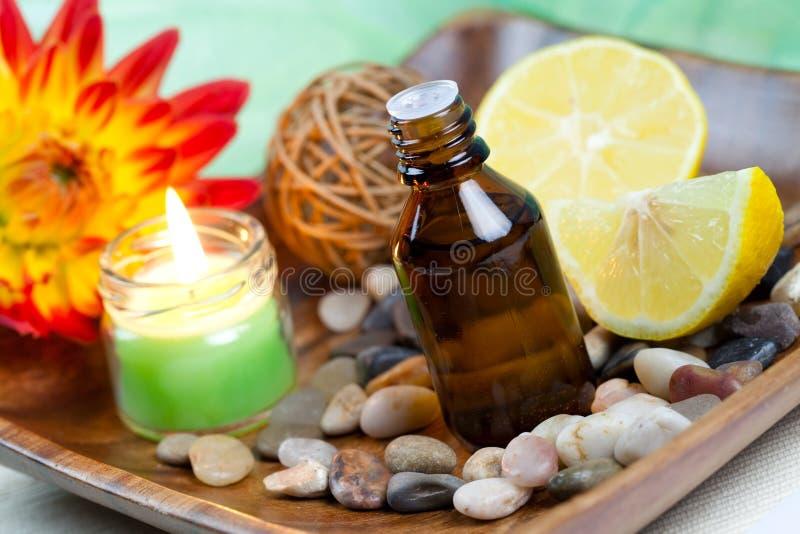 Lemon oil stock photo