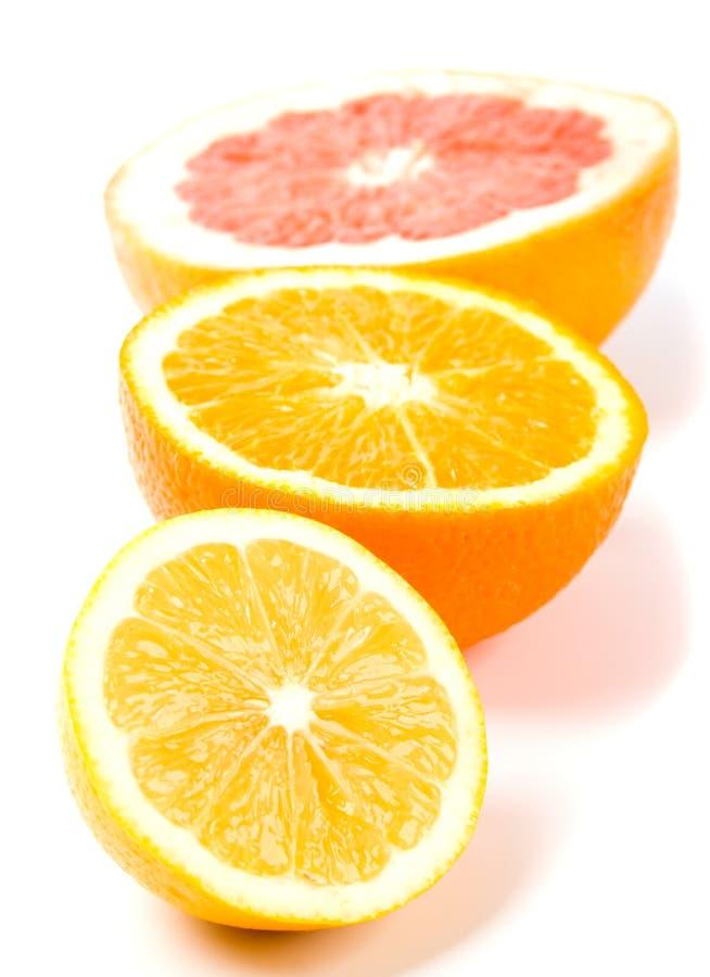 Lemon, orange and grapefruit royalty free stock image