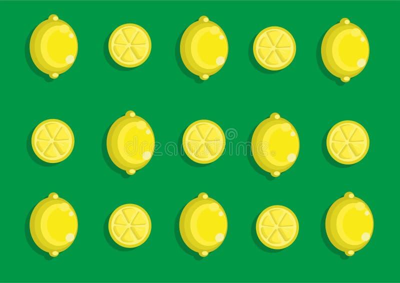 Lemon pattern royalty free illustration