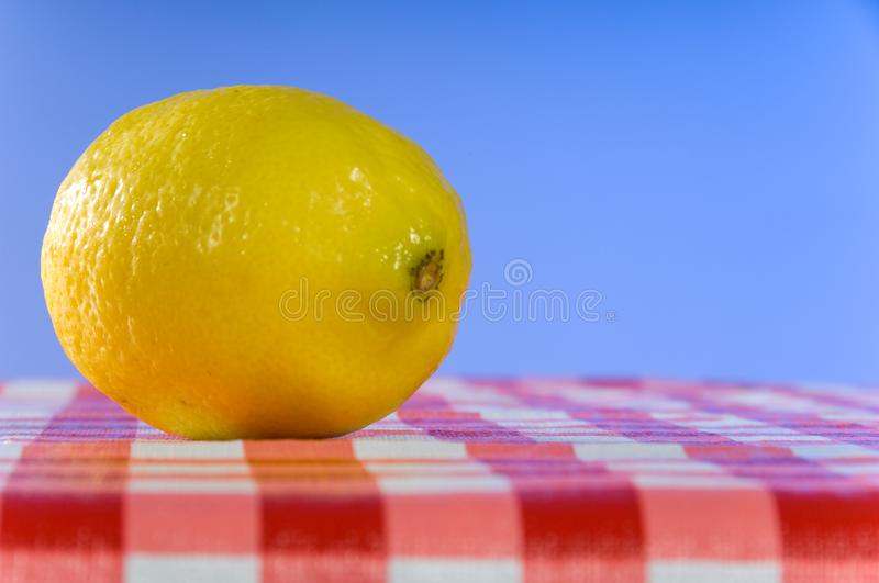 Lemon at picnic royalty free stock photography