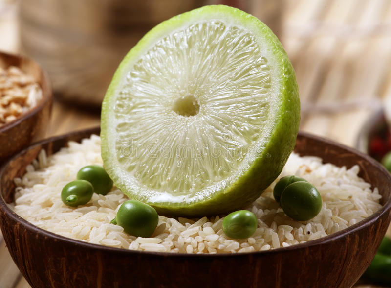 Download Lemon rice stock image. Image of citrus, healthy, bamboo - 18016525