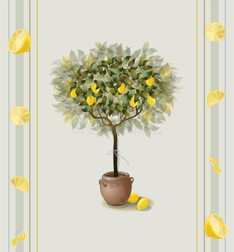 Lemon seamless background. stock illustration