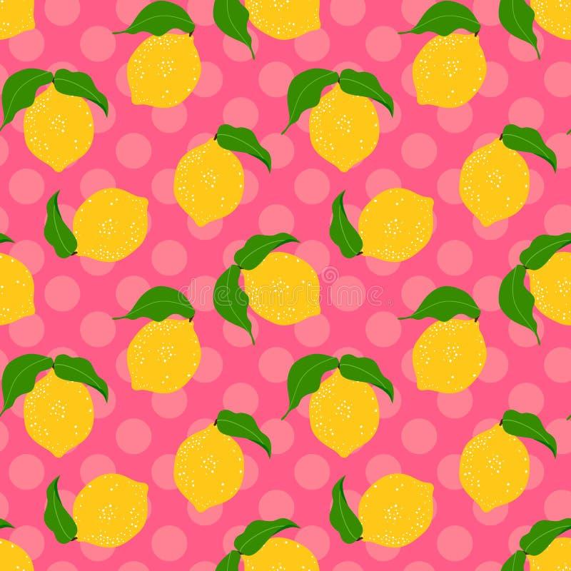 Lemon seamless background. royalty free illustration