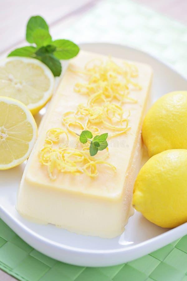 Lemon semifreddo stock photography