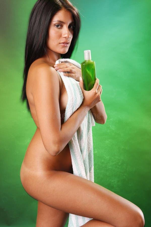 Download Lemon shampoo stock photo. Image of female, attractive - 15284544