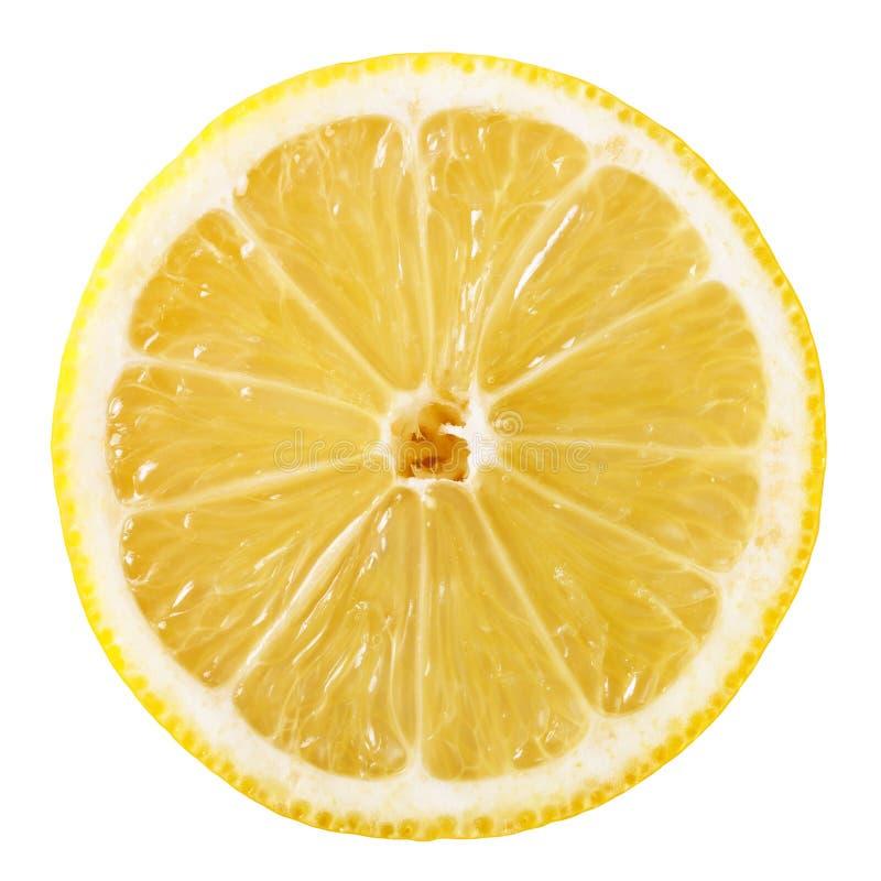 Lemon slice. Slice of fresh lemon isolated on white background stock image