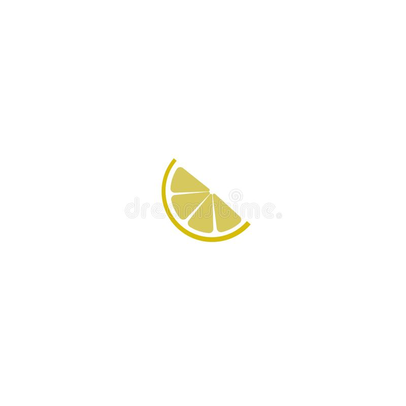 Lemon slice citrus flat vector icon for apps and websites vector illustration