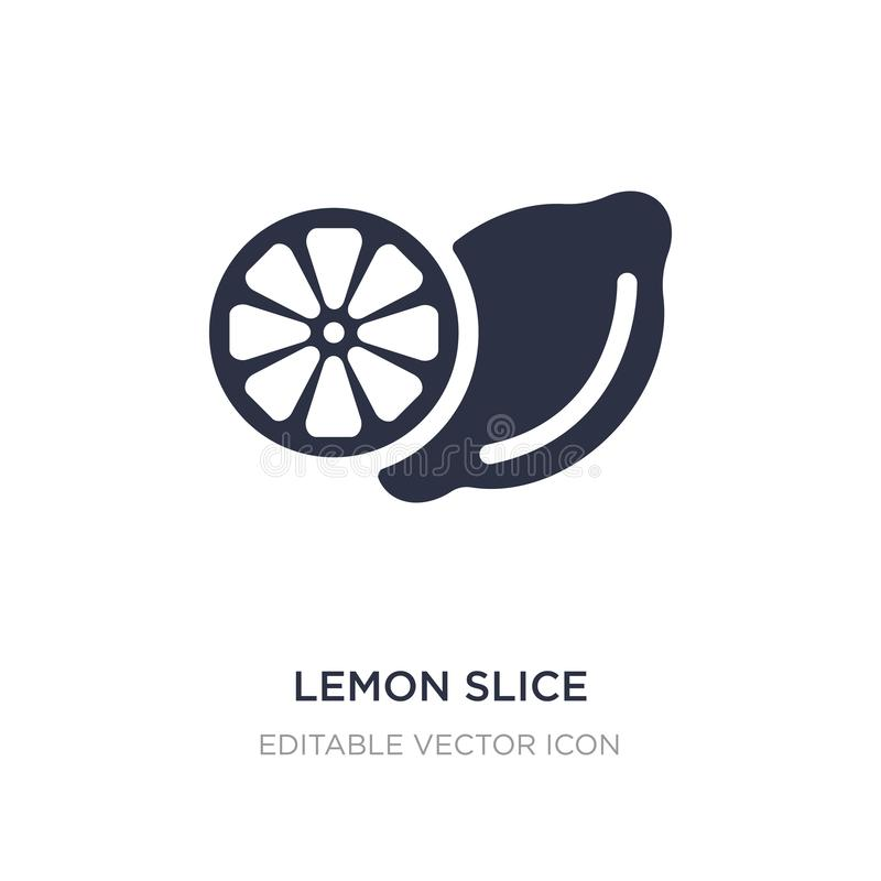 Lemon slice icon on white background. Simple element illustration from Food concept. Lemon slice icon symbol design royalty free illustration