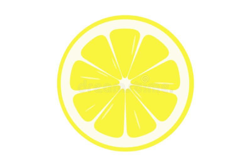 Lemon slice illustration - vector. Yellow lemon slice illustration isolated on white background - Vector vector illustration