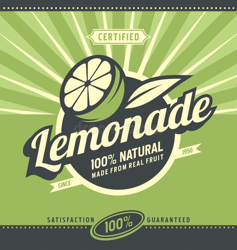 Lemon slice and lemonade royalty free illustration
