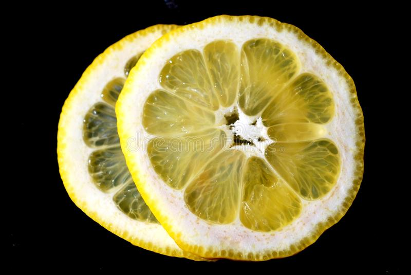 Lemon Slice macro royalty free stock images