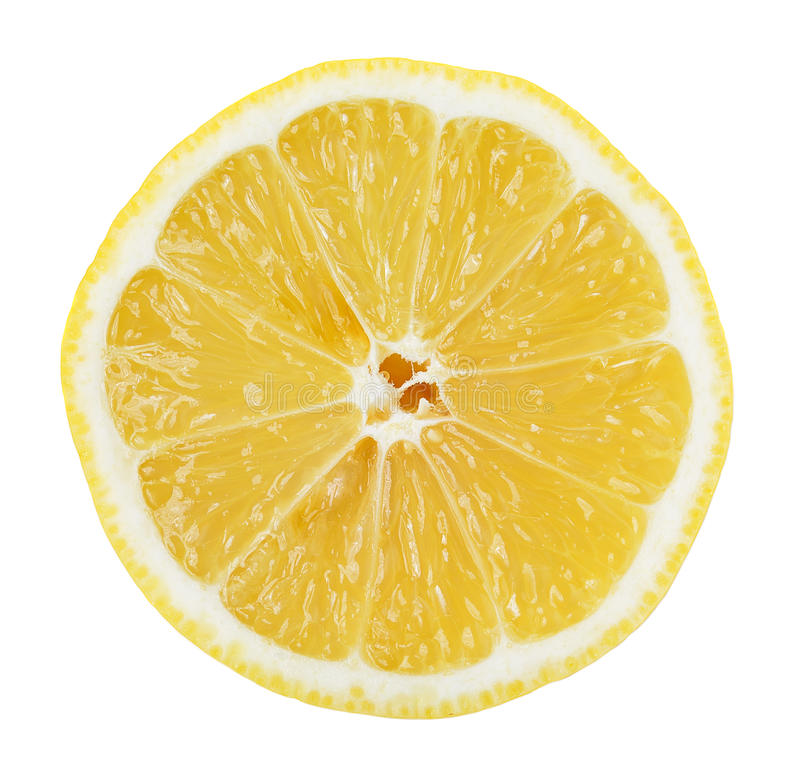 Free Lemon Slice On White Background Stock Image - 49950271
