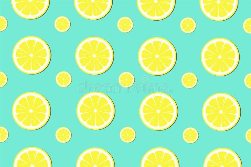 Lemon slice pattern background - Vector royalty free illustration