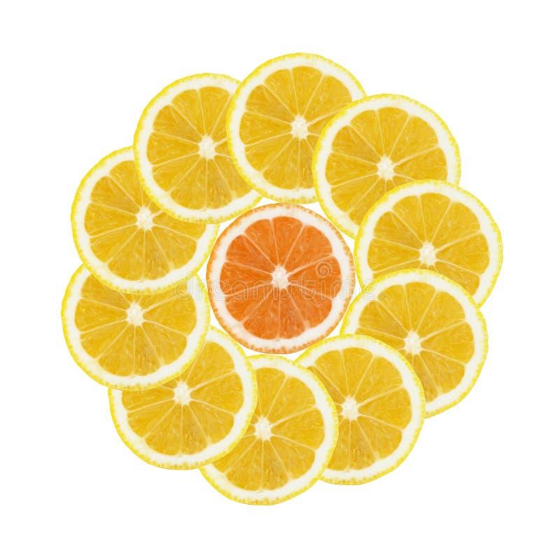 Lemon slice, round colorful pattern. Lemon Slices, Seamless Decorative pattern backgrounds for artwork, designs, wallpaper royalty free illustration