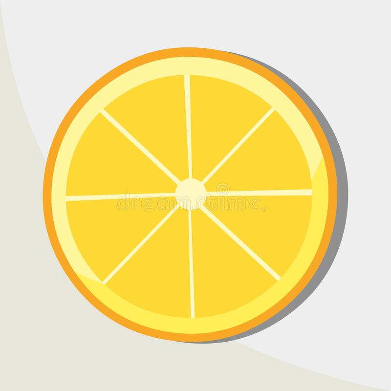 Lemon slice vector icon illustration. You can Use This illustration For business, For The websites, For company and others royalty free illustration