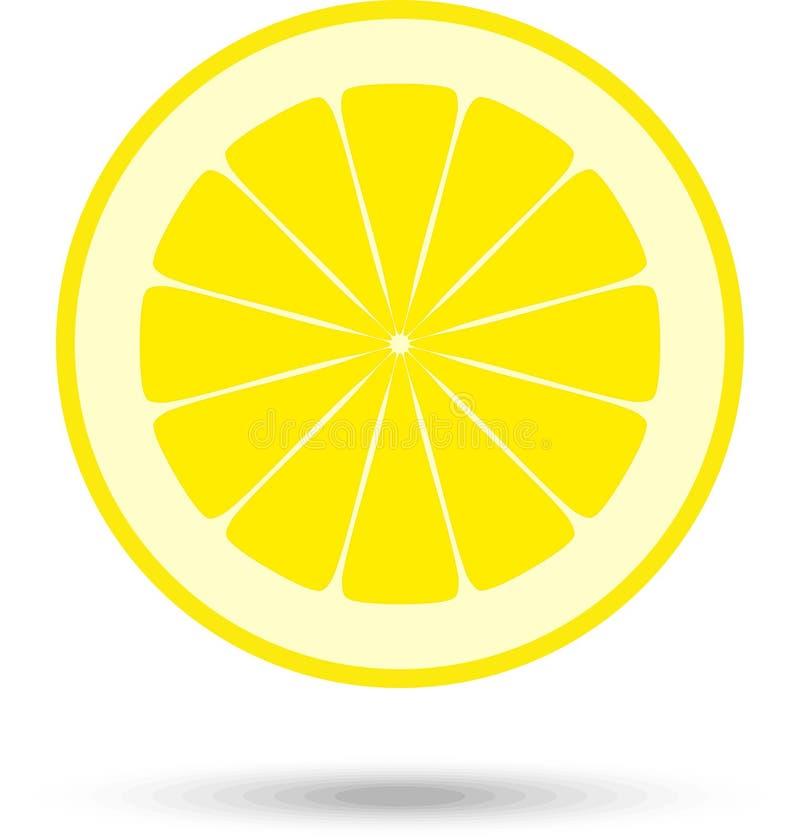 Lemon slice. Vector Illustration. Lemon fruit slice background. Vector Illustration royalty free illustration
