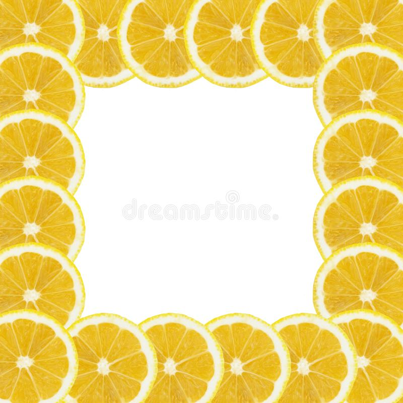 Lemon slices background isolated white background. Wallpaper web designs arts prints billboard stock photography