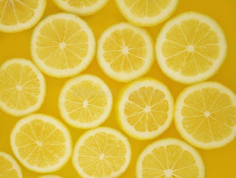 Lemon slices pattern stock photos