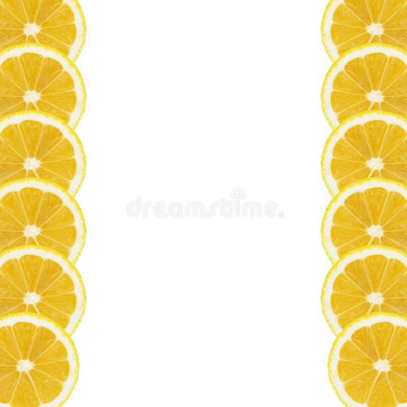 Lemon slices vertical background isolated white background. Wallpaper web designs arts prints billboard stock photos