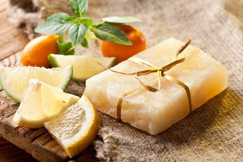 Lemon soap royalty free stock image