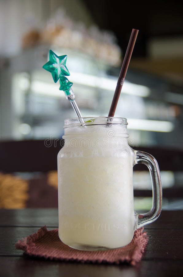 Lemon soda stock photo