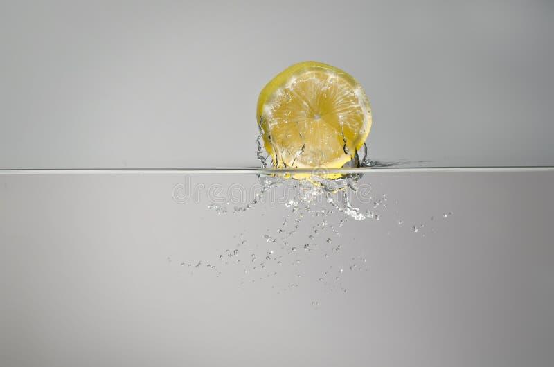 Lemon splash royalty free stock photography