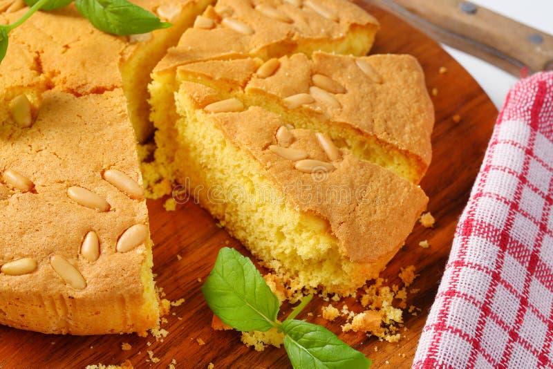 Lemon sponge cake royalty free stock photos