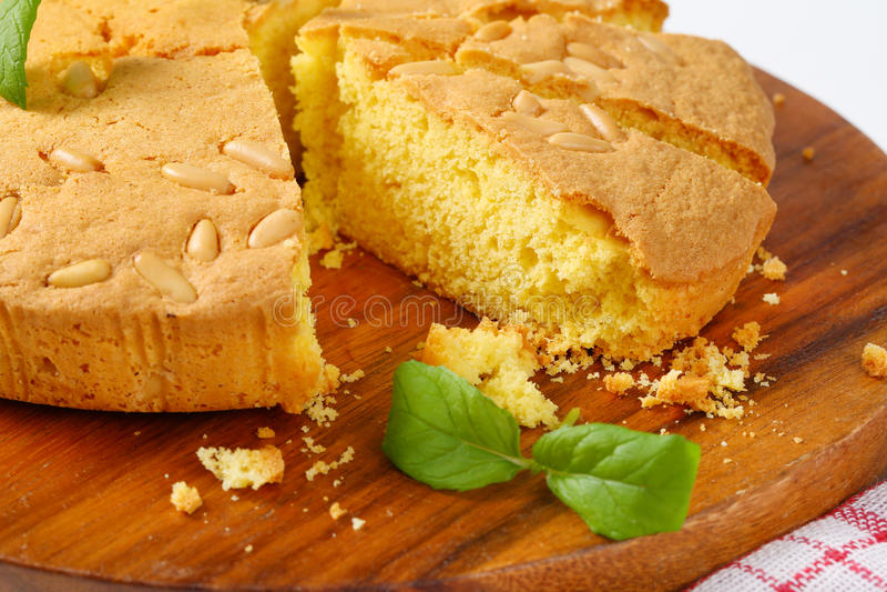 Lemon sponge cake royalty free stock photography