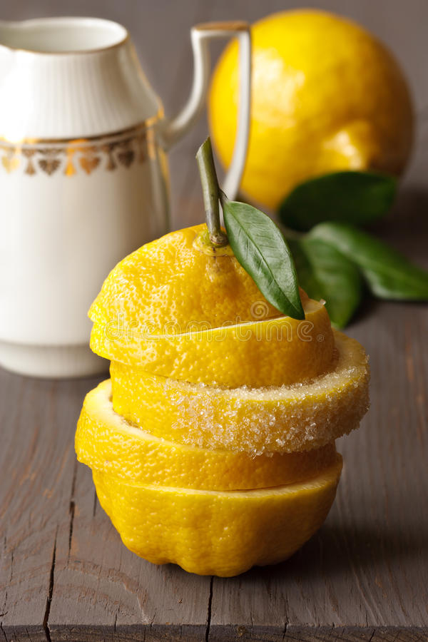Download Lemon with sugar. stock image. Image of object, group - 24789977
