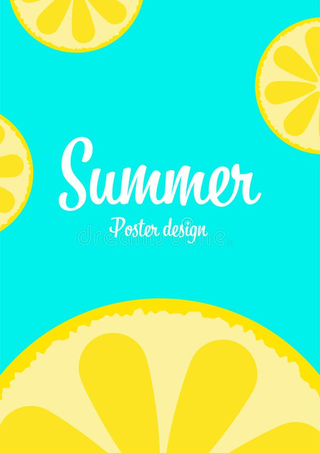 lemon summer tropical fresh fruit vector background,happiness holiday poster advertising banner background,enjoy summer concept royalty free illustration