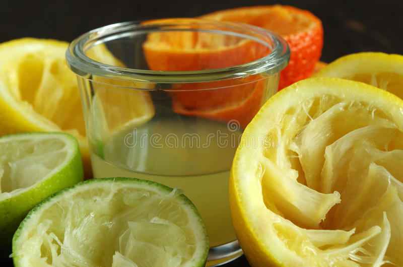 Lemon, tangerine and lime. Slices from lemon, tangerine and lime royalty free stock photo