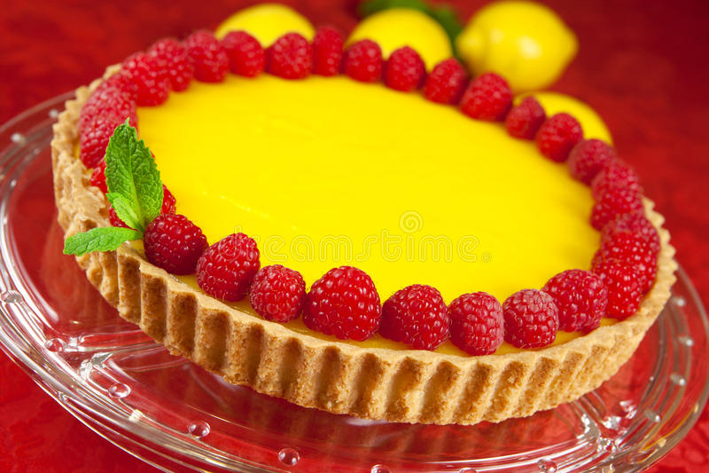 Lemon tart royalty free stock photography
