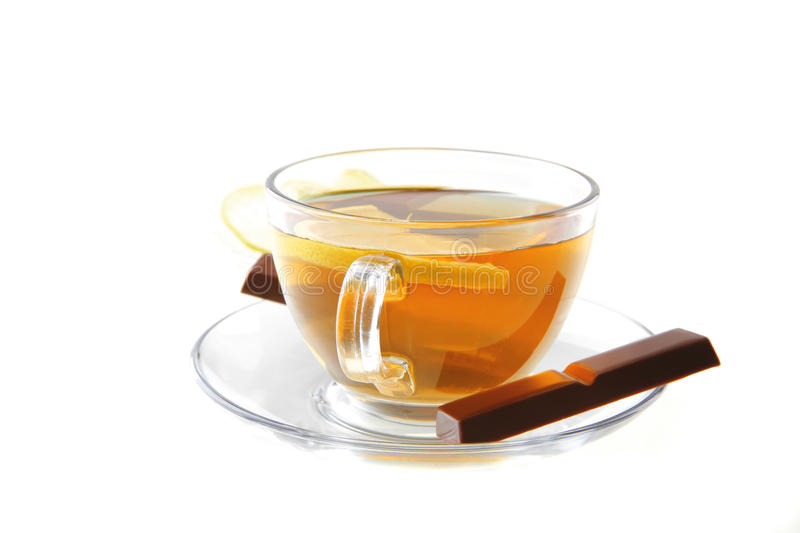 Lemon And Tea With Chocolate Royalty Free Stock Photo