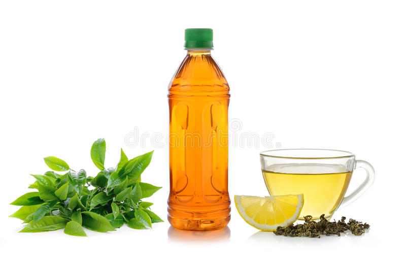 Lemon tea on white background royalty free stock images
