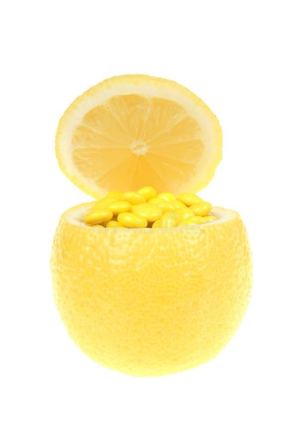 Lemon And Vitamin Stock Photography