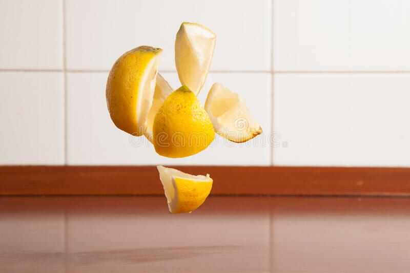 Lemon Wedges Levitating Free Public Domain Cc0 Image