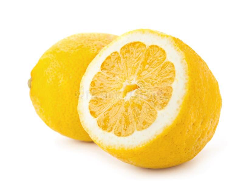 Download Lemon on white stock photo. Image of section, white, fruit - 26937018