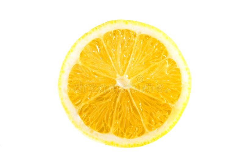 Lemon on a white background stock photo