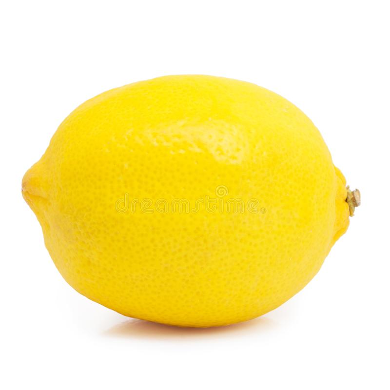 Lemon on white background royalty free stock photo
